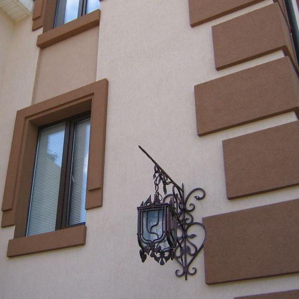 Цвет декоративной штукатурки для фасадов